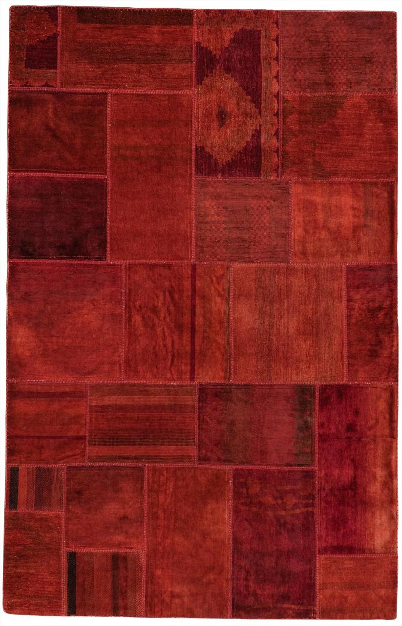 Patchwork-Teppich Rubyred