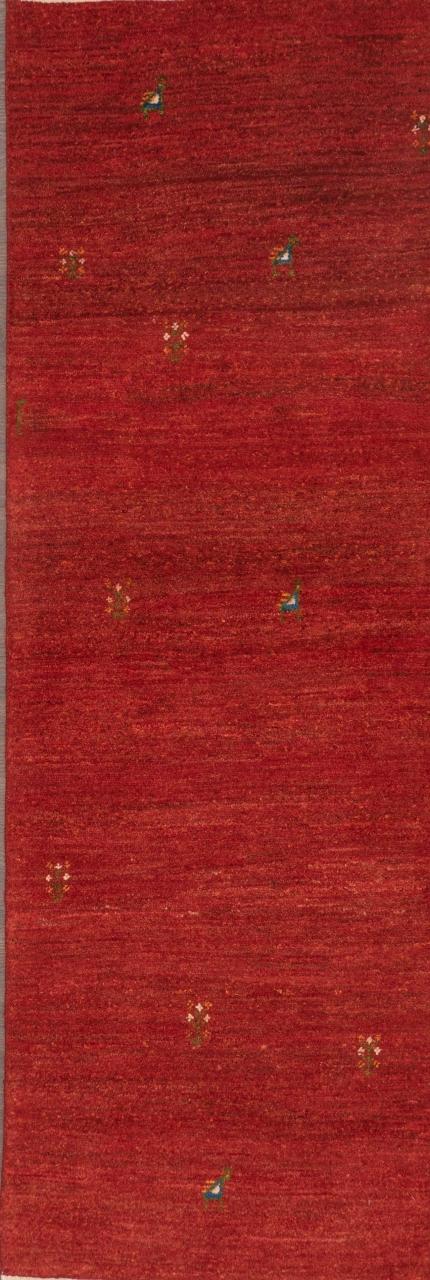 Iran Gabbeh Teppich-Unikat Rote Mohnfelder