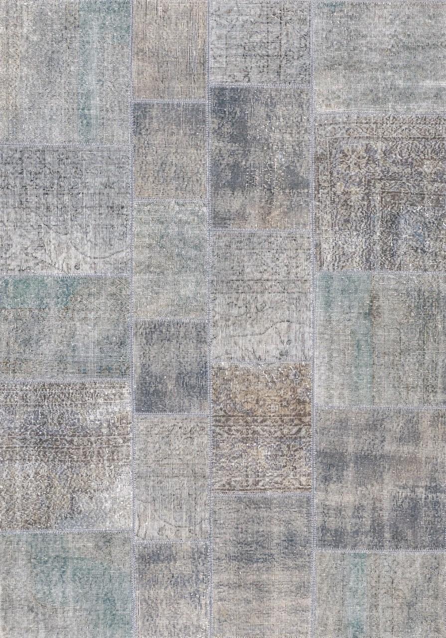 Vintage-Teppich Patchwork Quarz