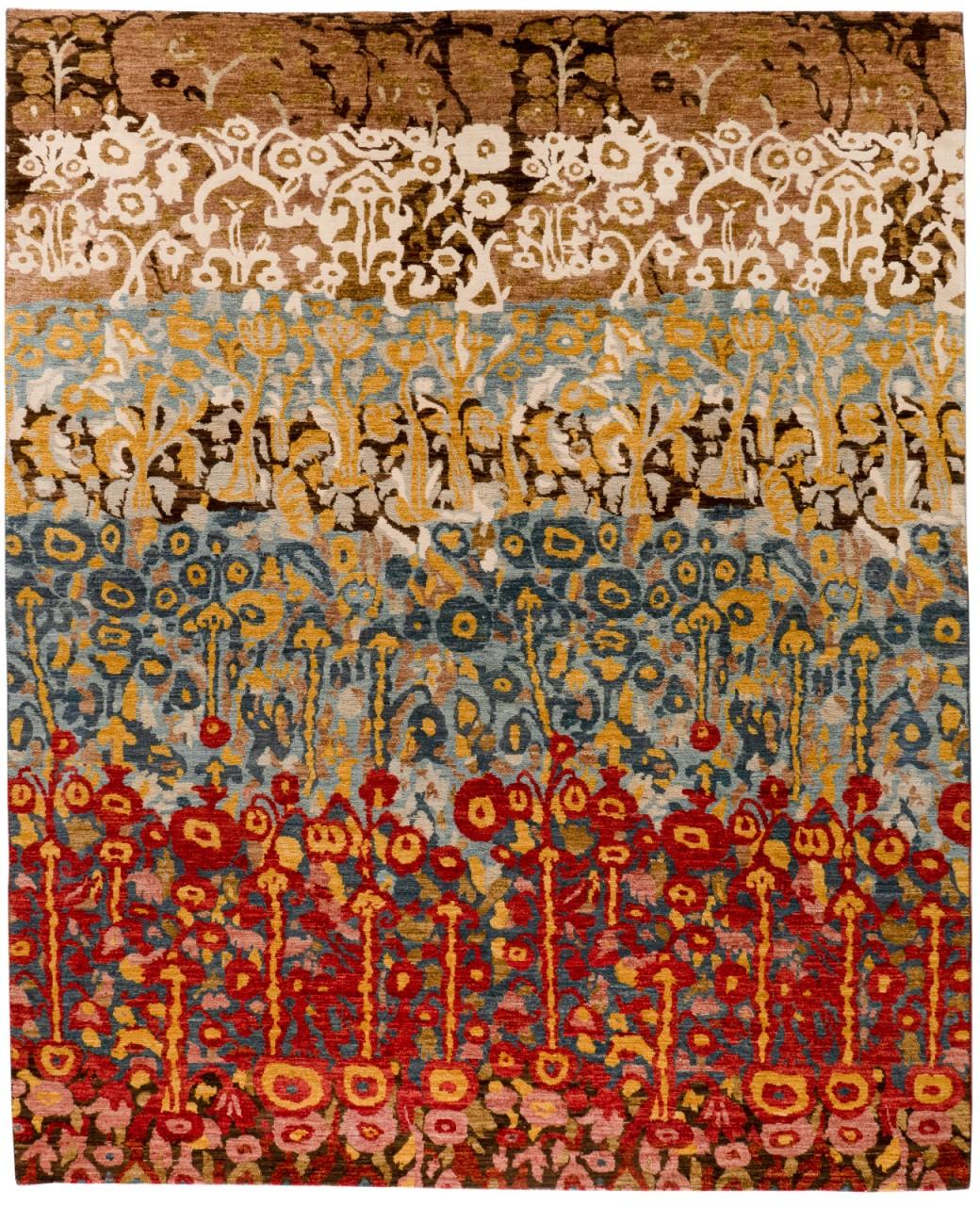 Design-Teppich Flowergarden