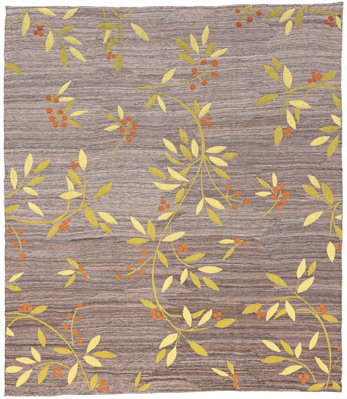 Iran Kelim Teppich-Unikat Orangenblätter