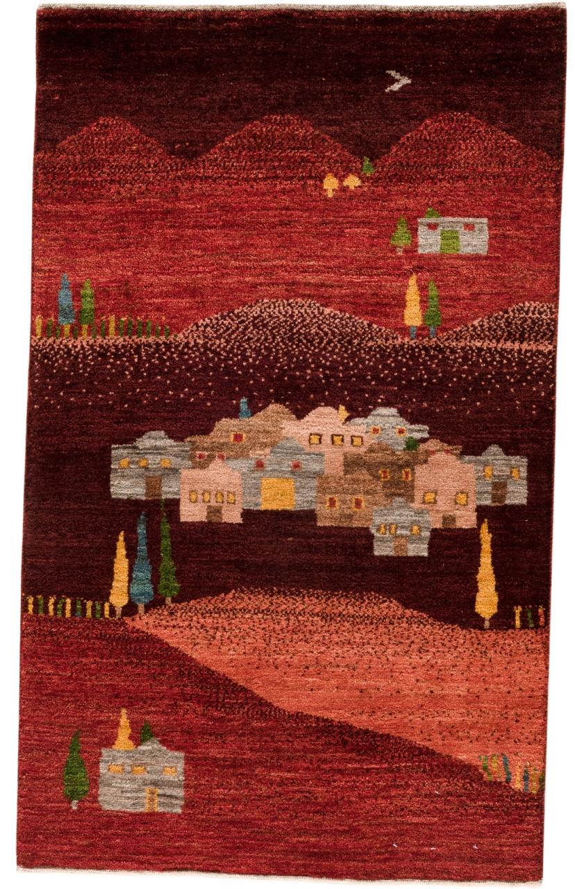 Iran Gabbeh Teppich-Unikat Meine Heimat