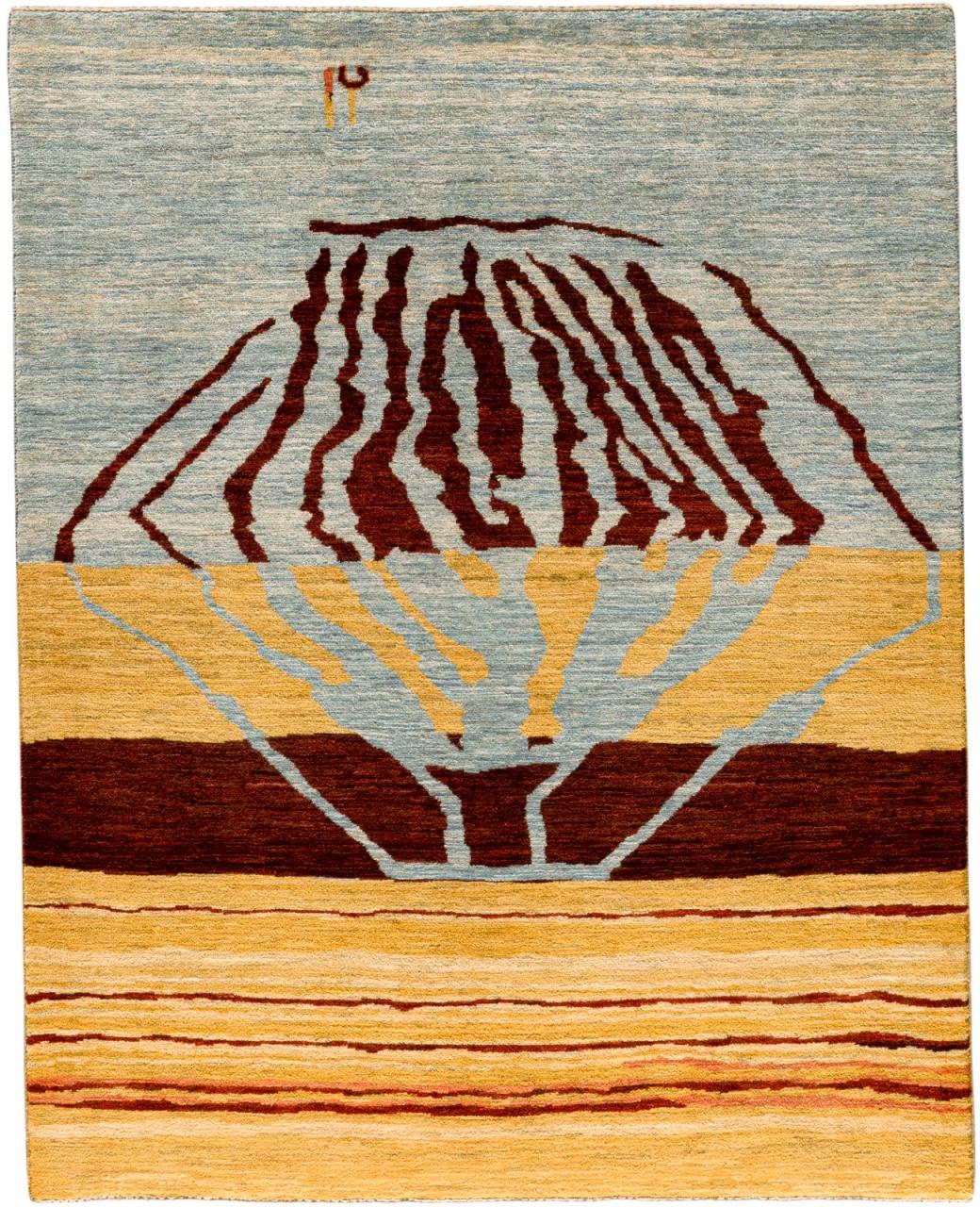 Iran Gabbeh Teppich-Unikat Wüstenrose