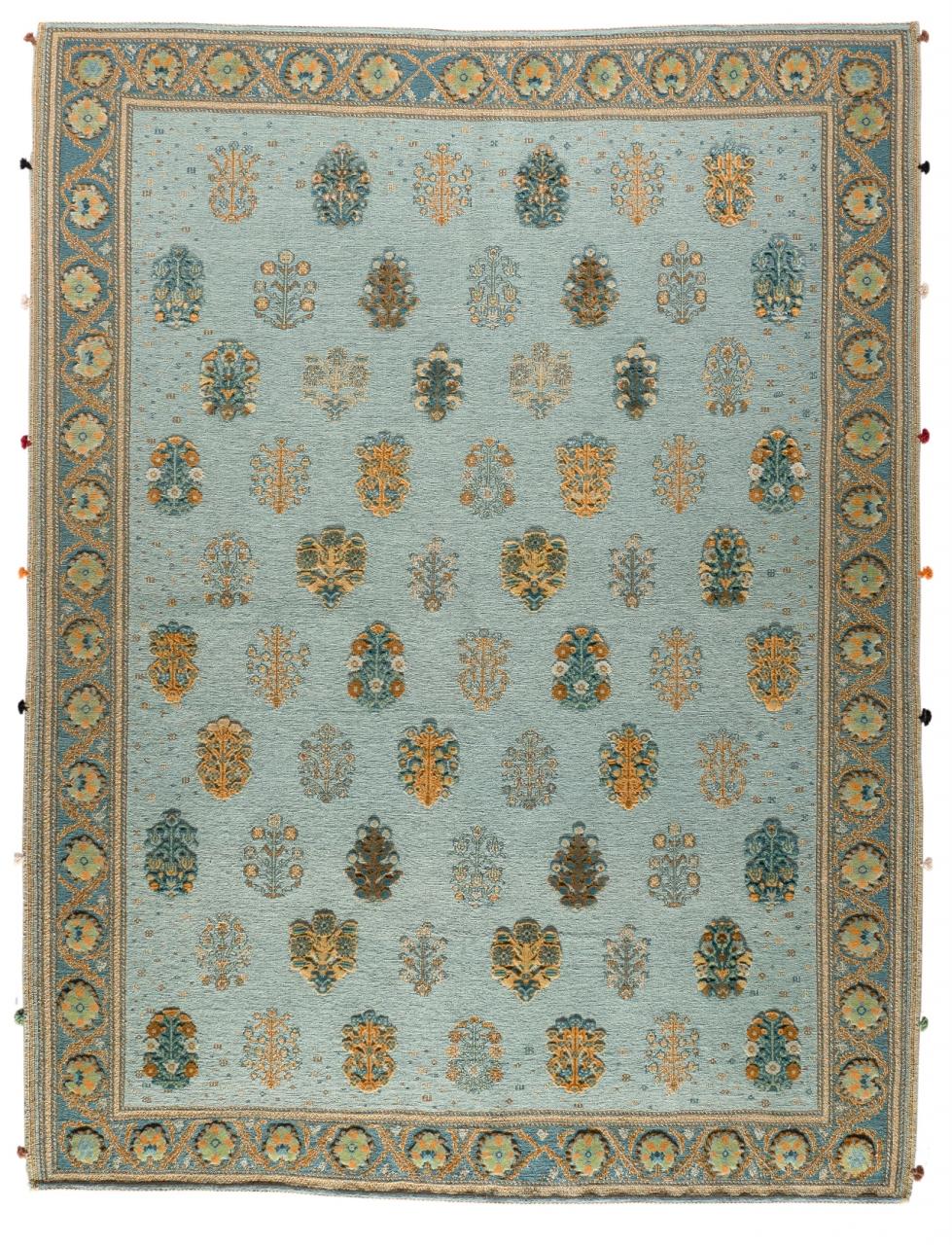 Kelim Teppich Soumakh Turquoise