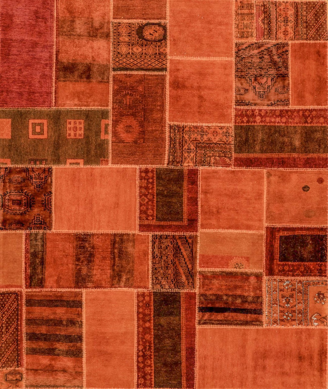 Patchwork-Teppich Orange