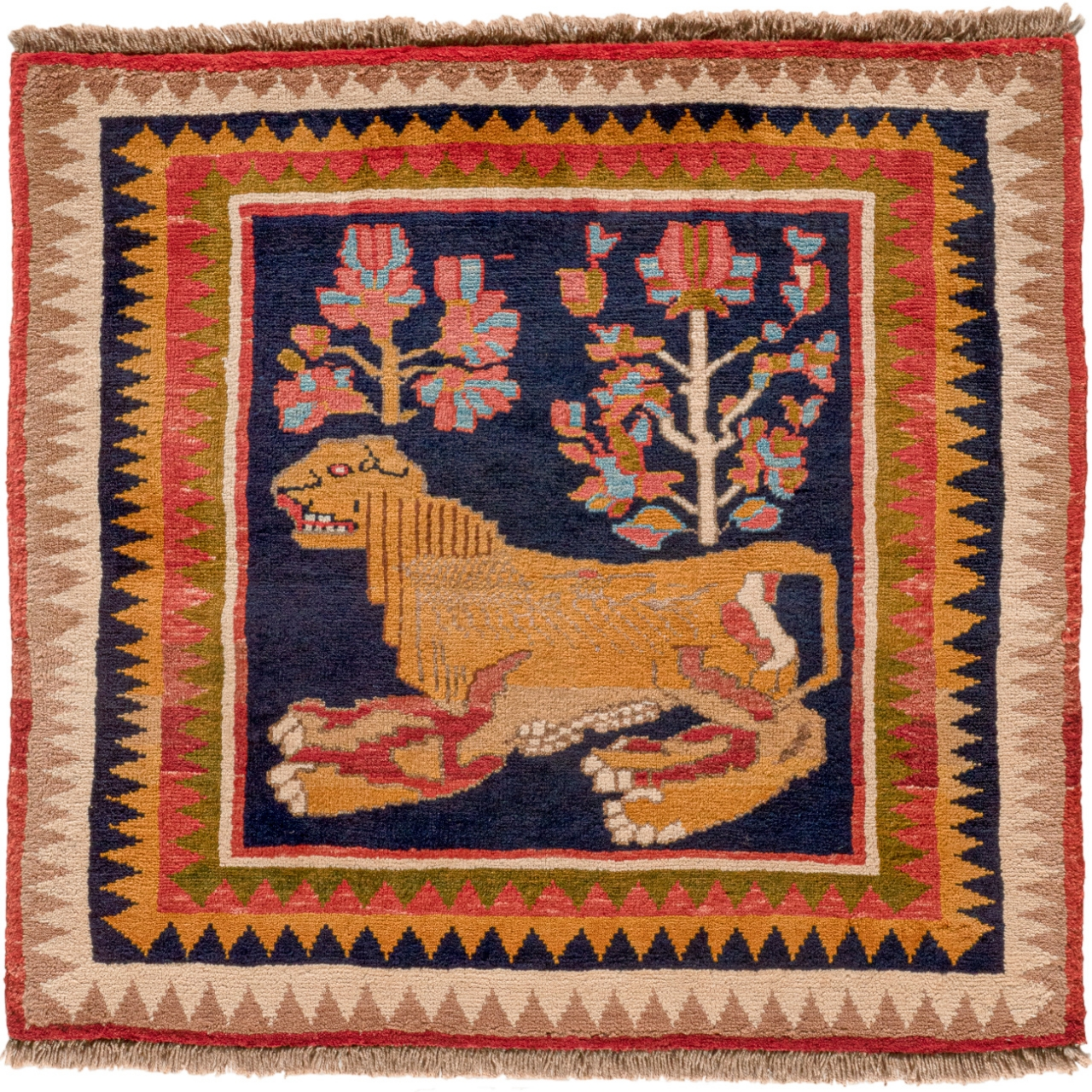 Iran Gabbeh Teppich-Unikat Lion