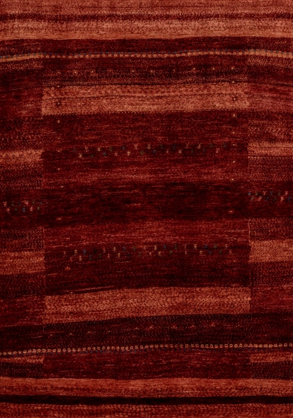 Iran Gabbeh Teppich-Unikat Rote Blumenwiese