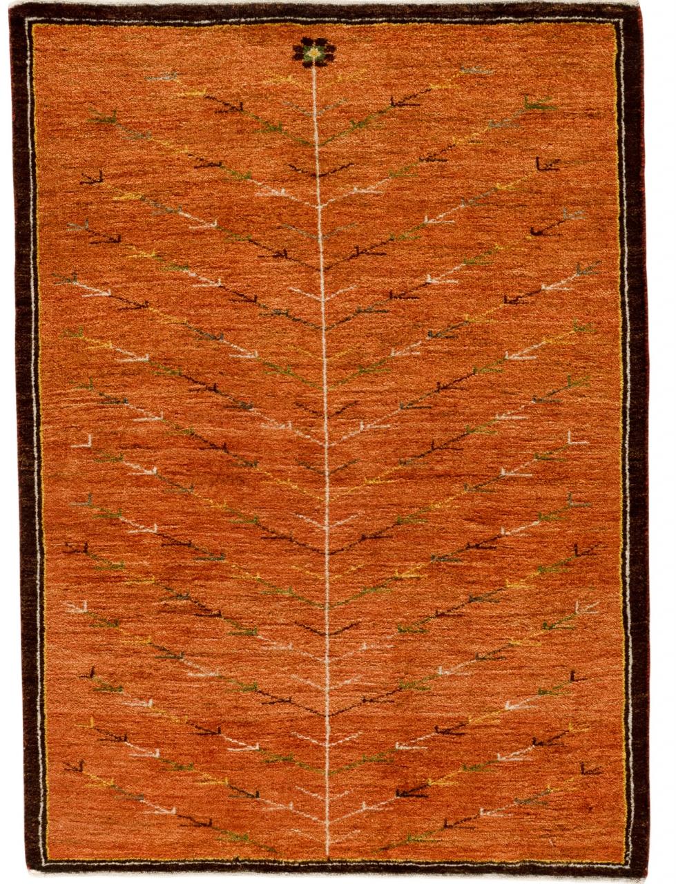Iran Gabbeh Teppich-Unikat Seidenbäumchen