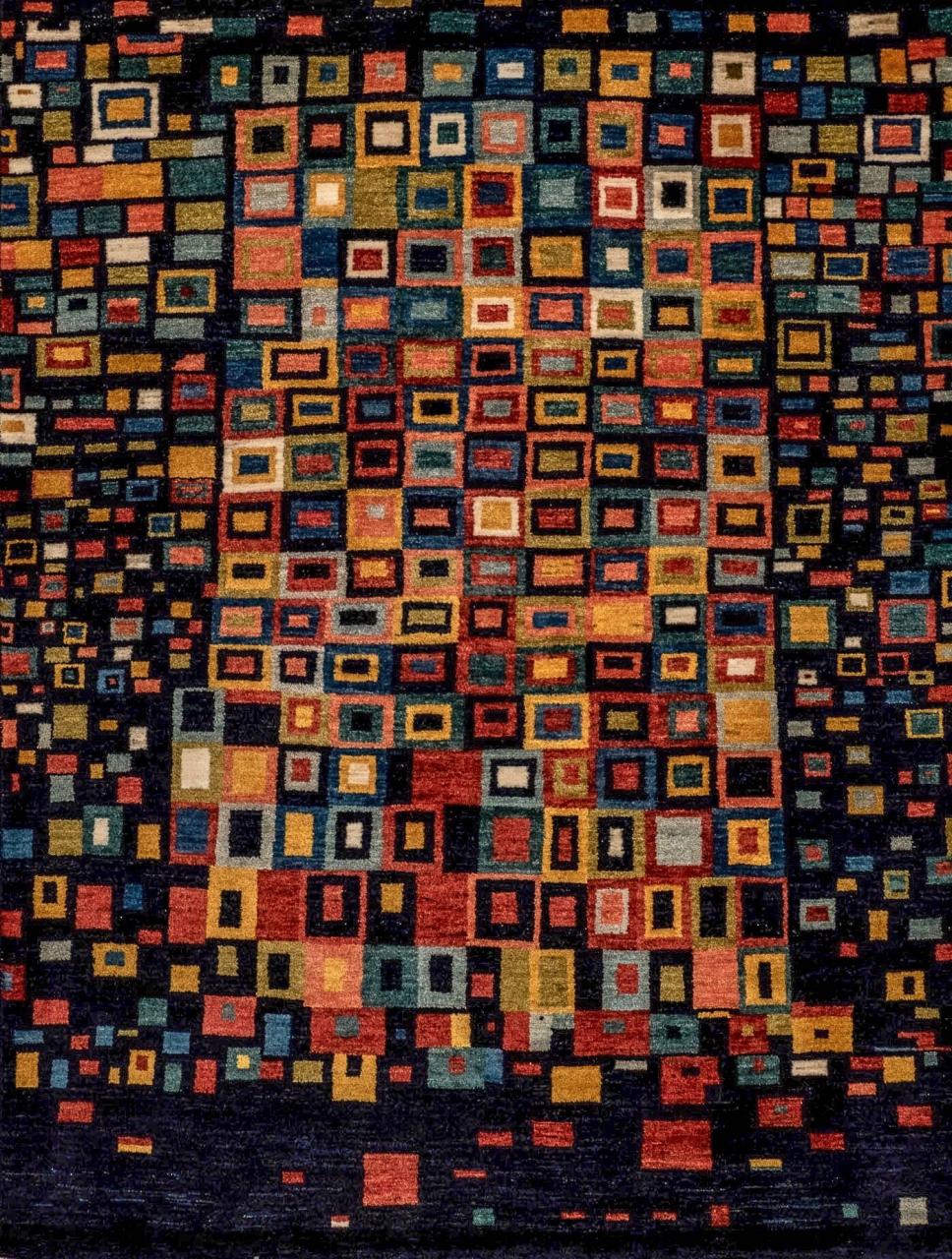 Iran Gabbeh Teppich-Unikat Mosaikfenster