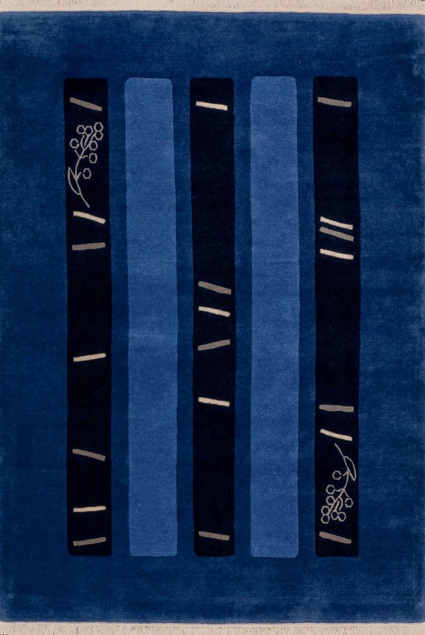 Nepal Teppich BlacknBlue