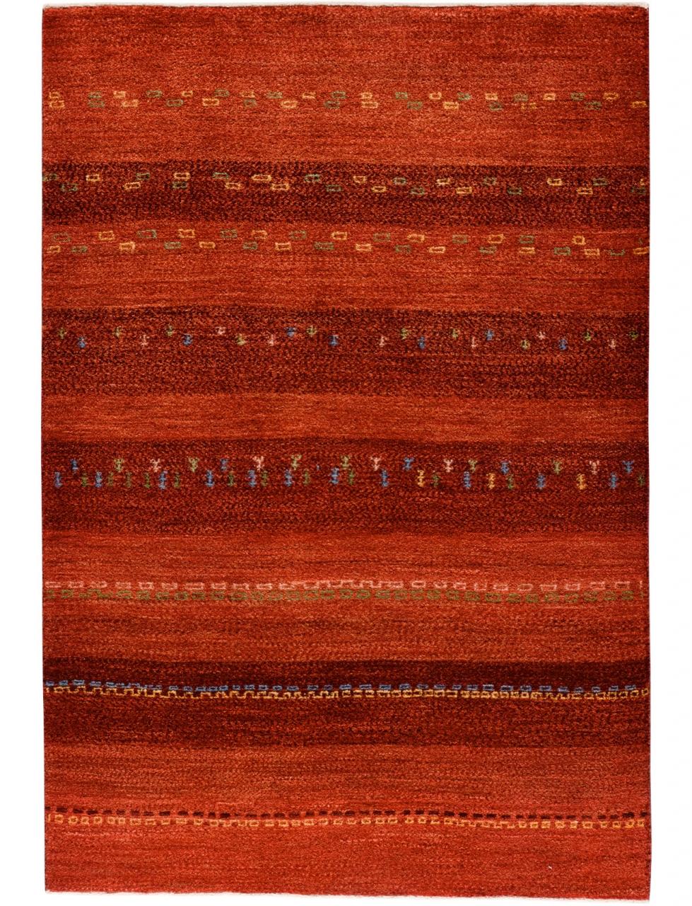 Iran Gabbeh Teppich-Unikat Mohnweide