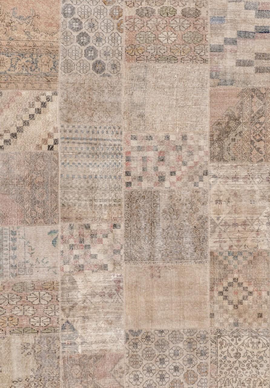 Vintage-Teppich Patchwork Sand
