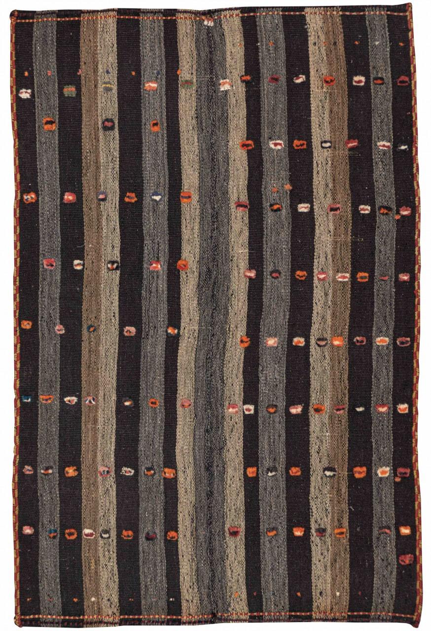 Kelim-Teppich Orange Dots