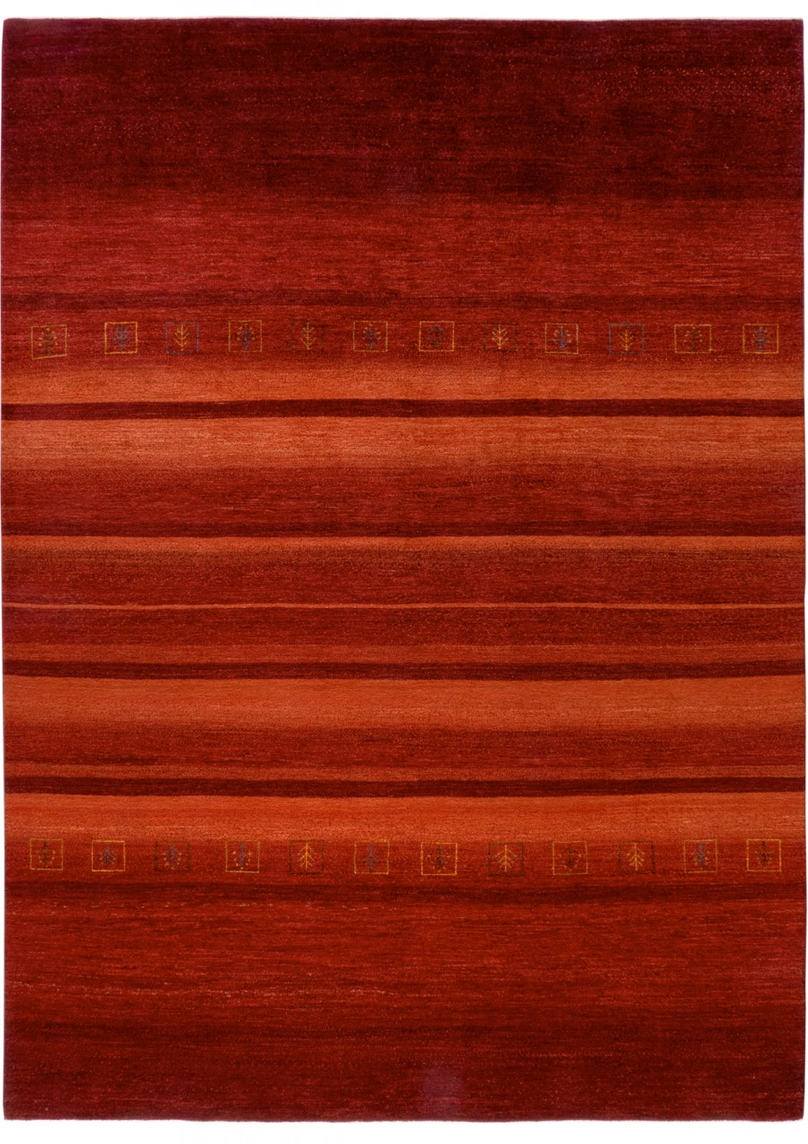 Iran Gabbeh Teppich-Unikat Roter Mohn