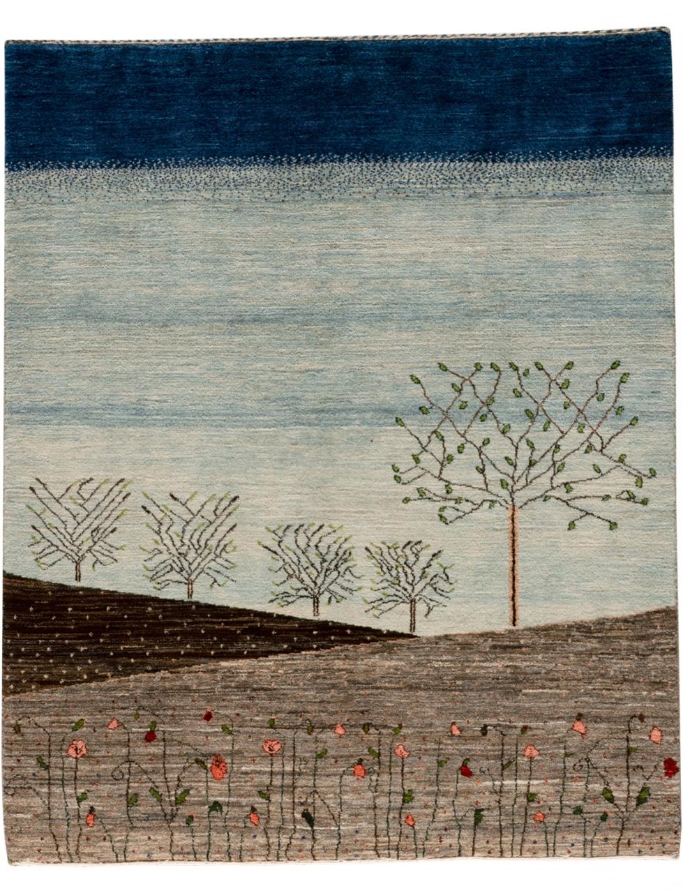 Iran Gabbeh Teppich-Unikat Frühlingserwachen