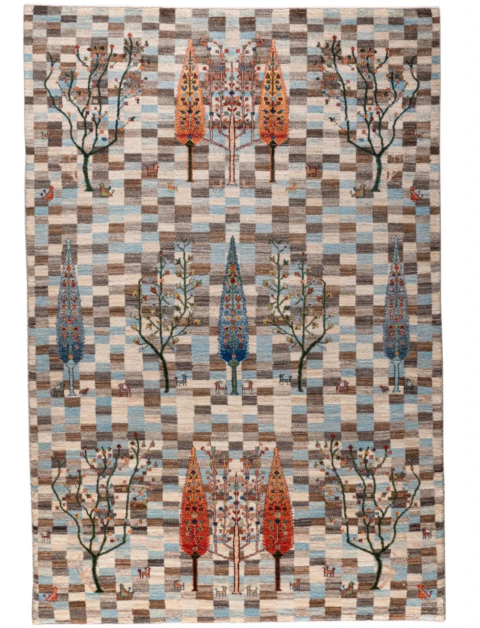 Iran Gabbeh Teppich-Unikat Palastgarten