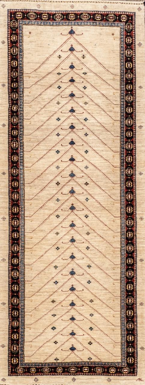 Iran Gabbeh Teppich-Unikat Läufer Klassik