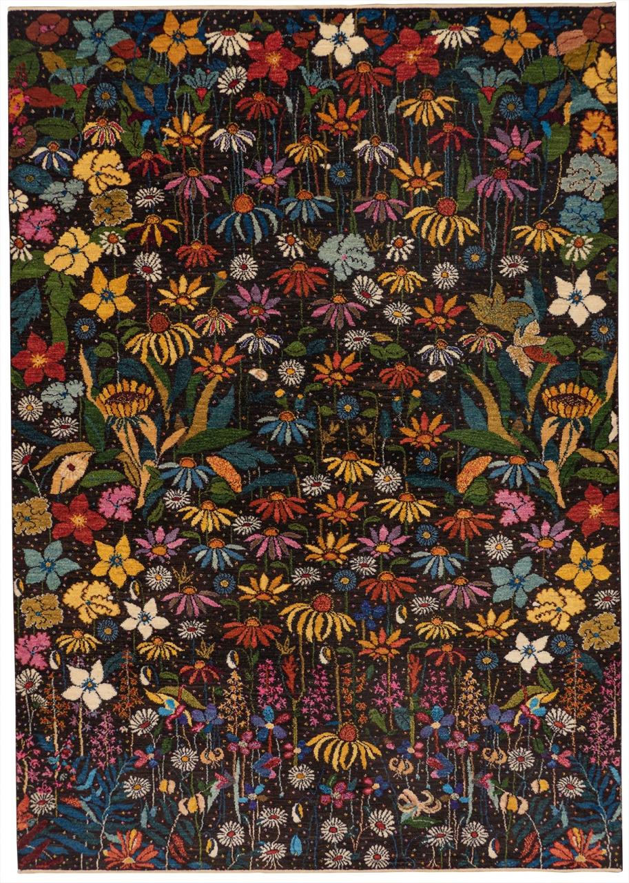 Iran Gabbeh Teppich-Unikat Stadtgarten