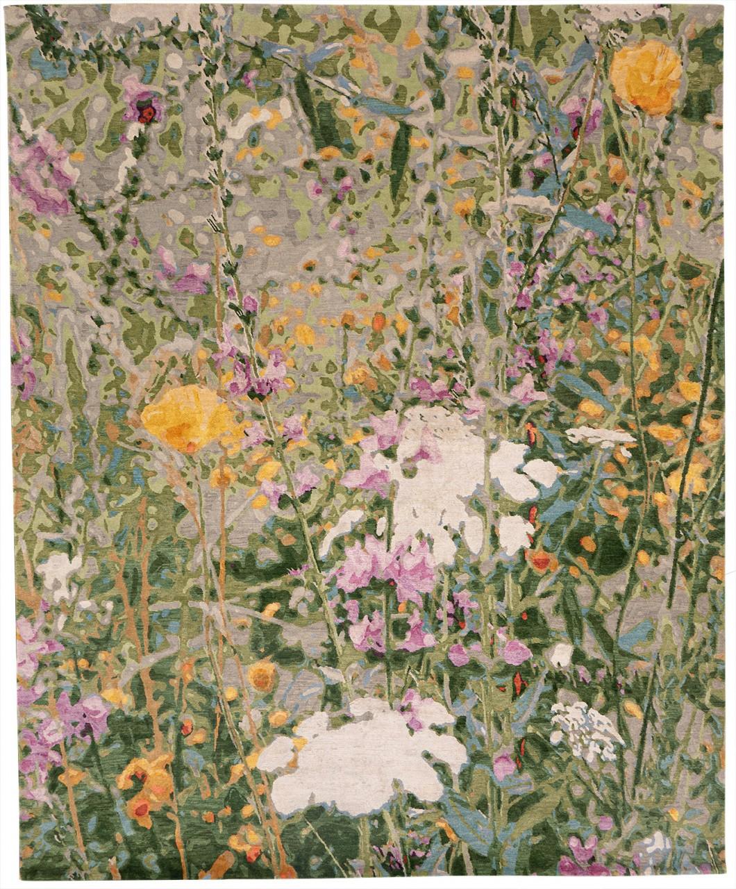 Designer Teppich Wool and Silk Wild Flowers