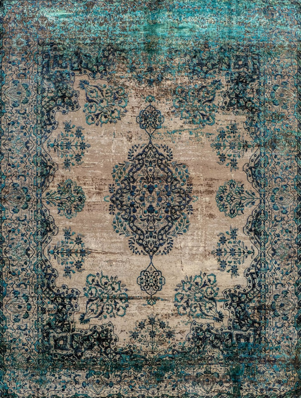 Designer Teppich Jan Kath Kirman Robson Artwork 19 Blue