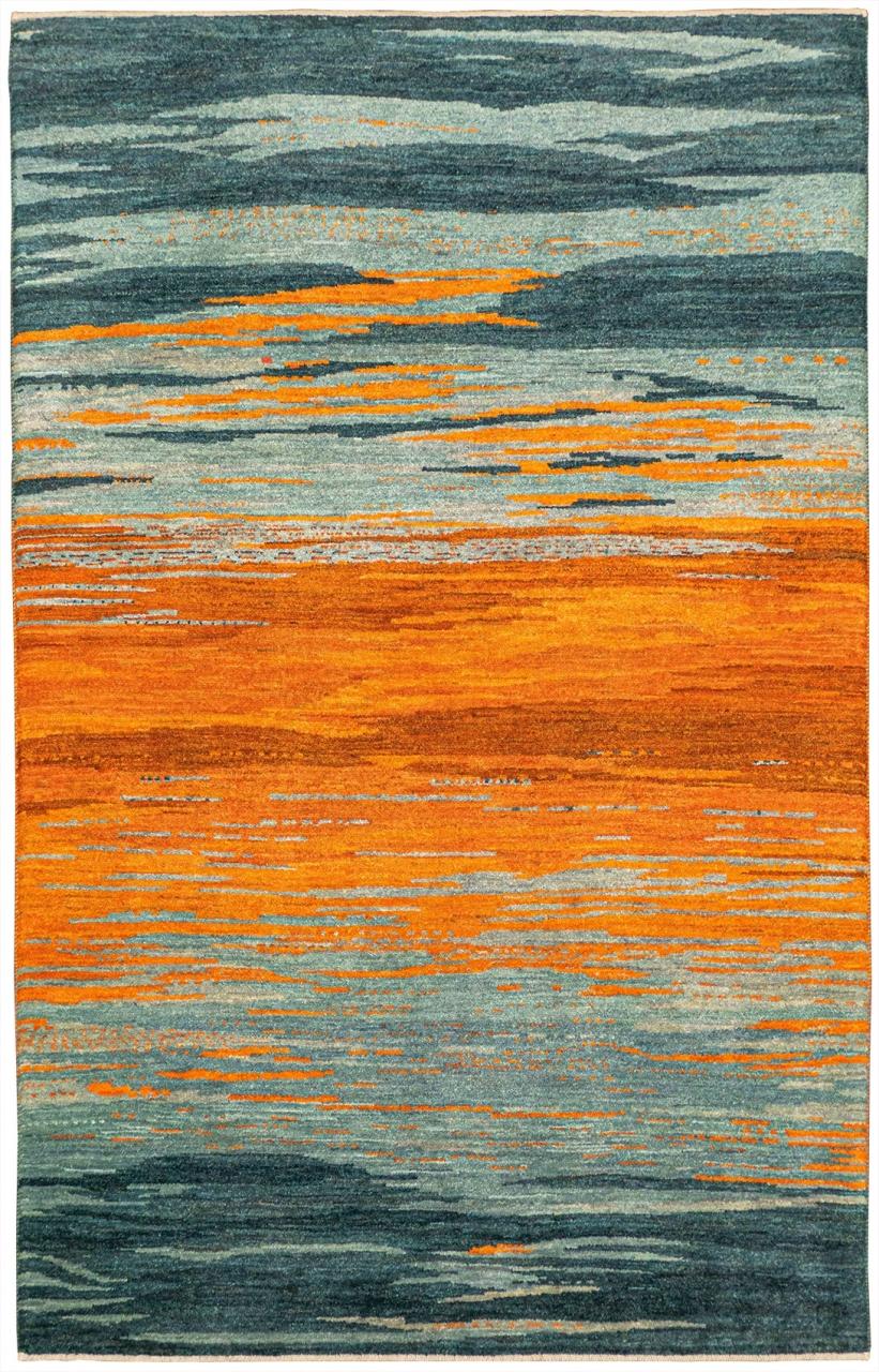 Iran Gabbeh Teppich-Unikat Himmelsfarben