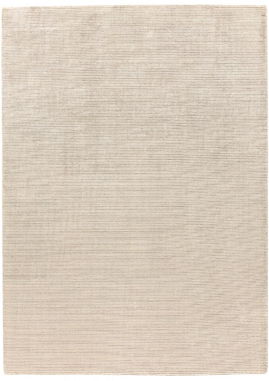 Design-Teppich Uni Offwhite