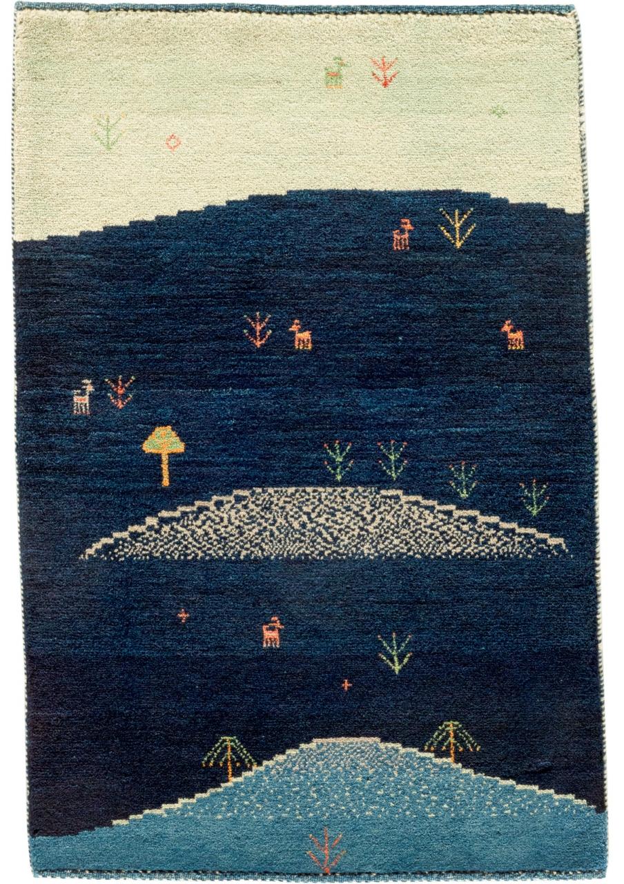 Iran Gabbeh Teppich-Unikat Sommerweide