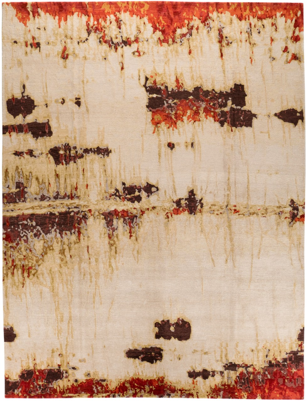 Designer Teppich Wool and Silk Smoke on the Water