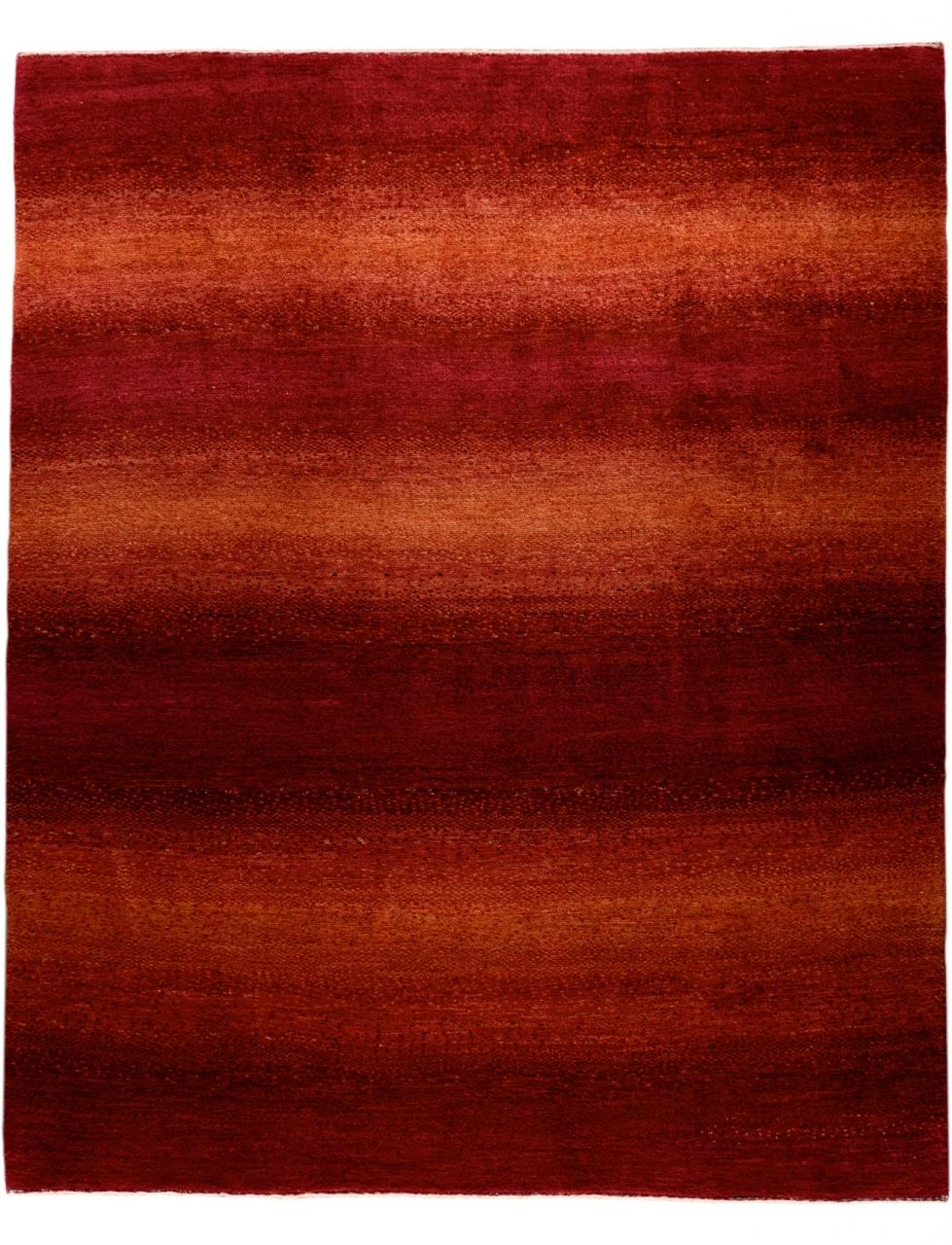 Iran Gabbeh Teppich-Unikat Ruby Red