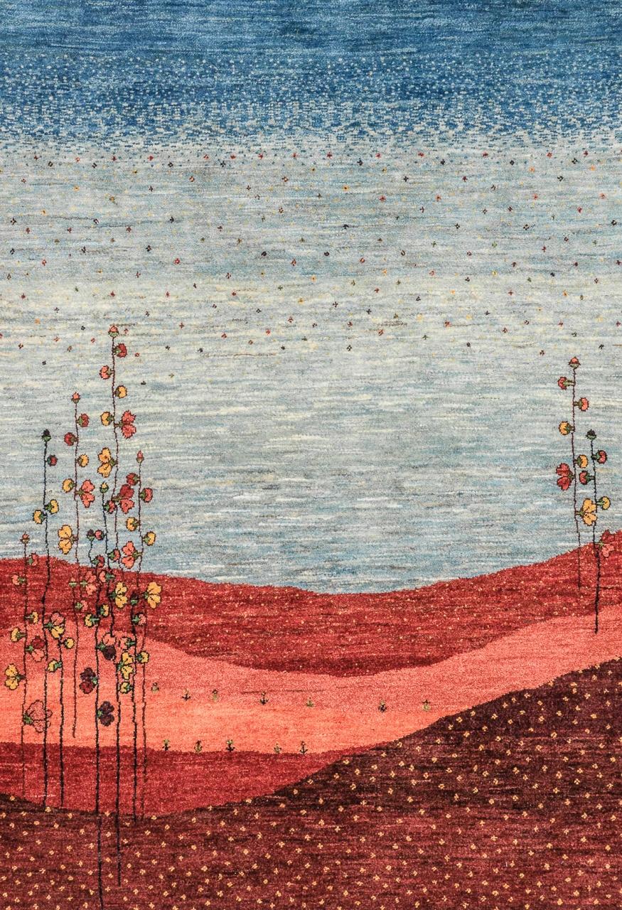 Iran Gabbeh Teppich-Unikat Blumensträucher