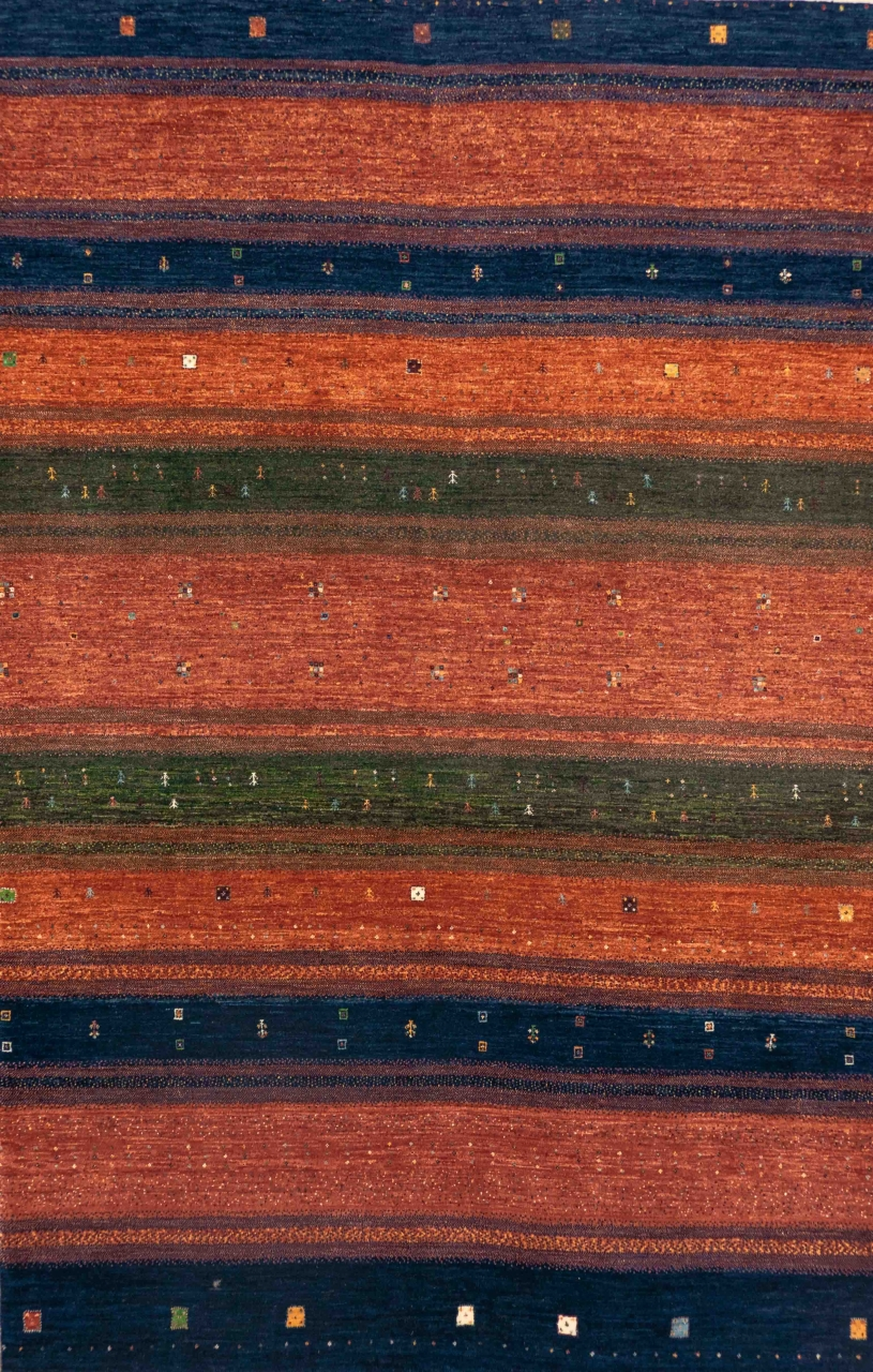 Iran Gabbeh Teppich-Unikat Mohnblumenfelder