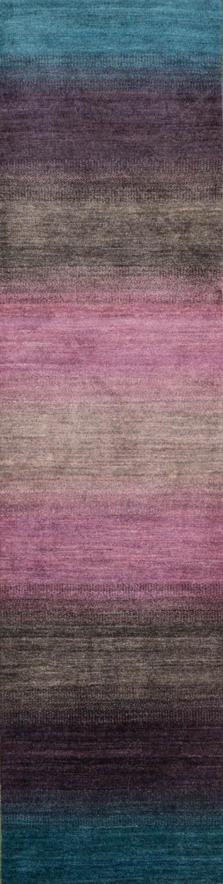 Iran Gabbeh Teppich-Unikat Läufer Lavendel