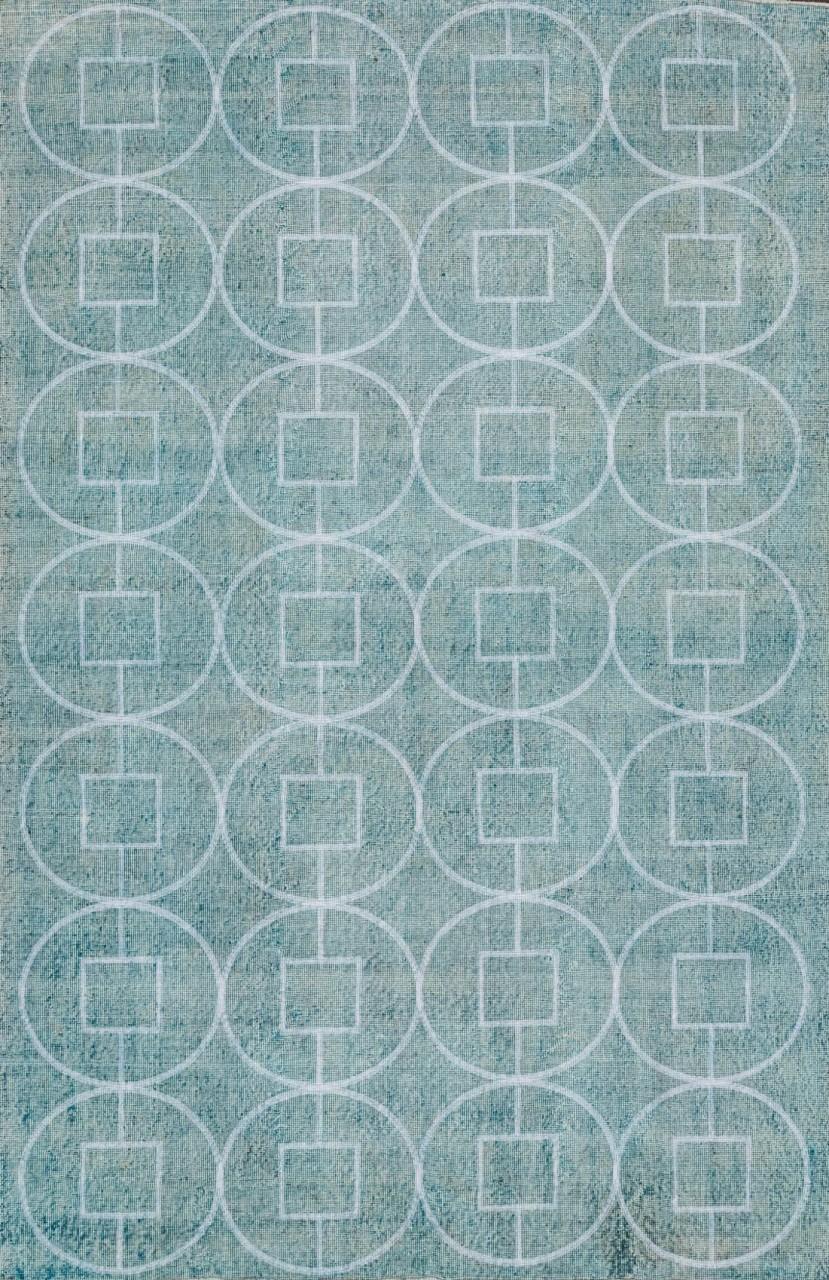 Vintage-Teppich Icegrey Circles