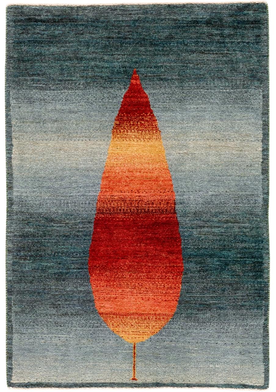 Iran Gabbeh Teppich-Unikat Rote Zypresse