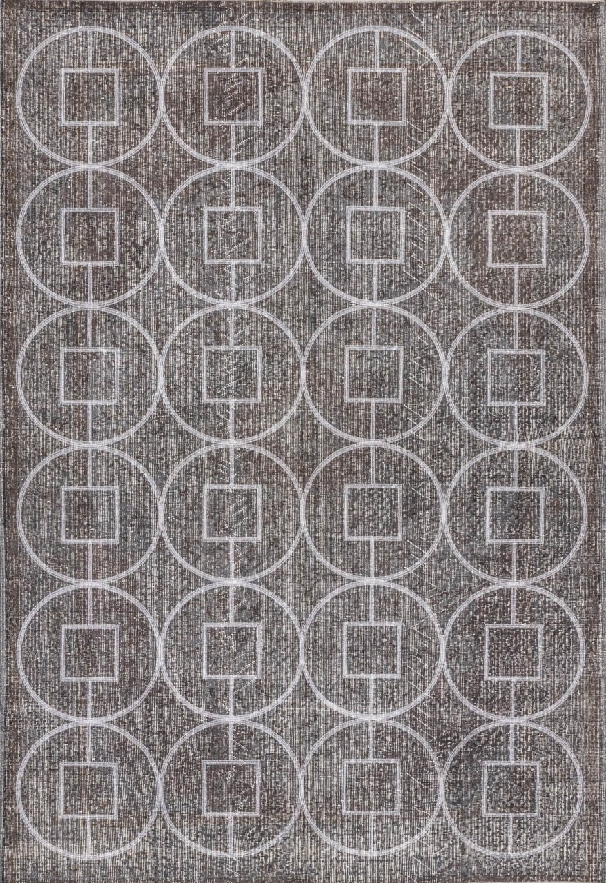 Vintage-Teppich Grey Circles