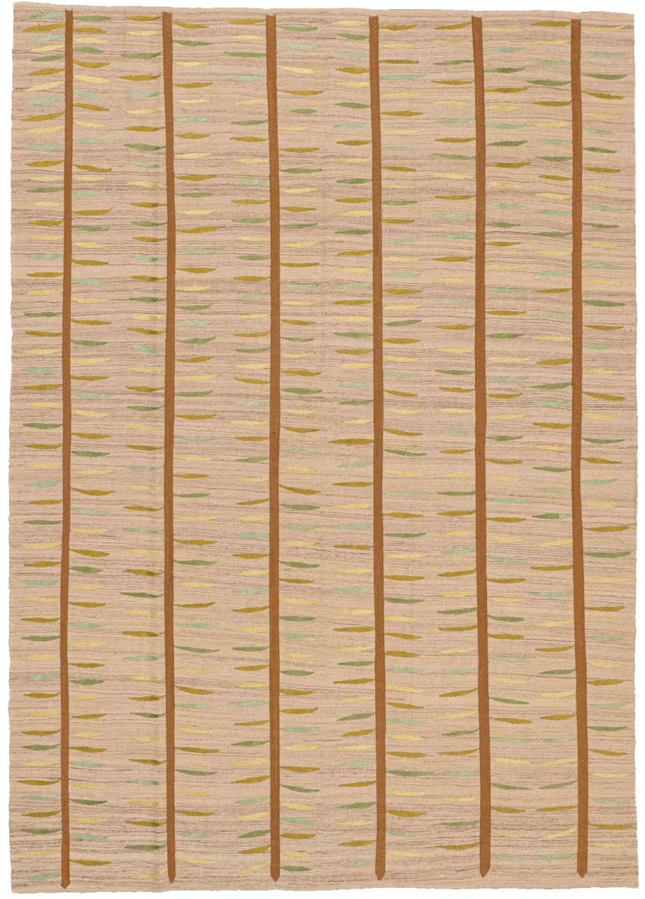 Kelim Teppich Bambus