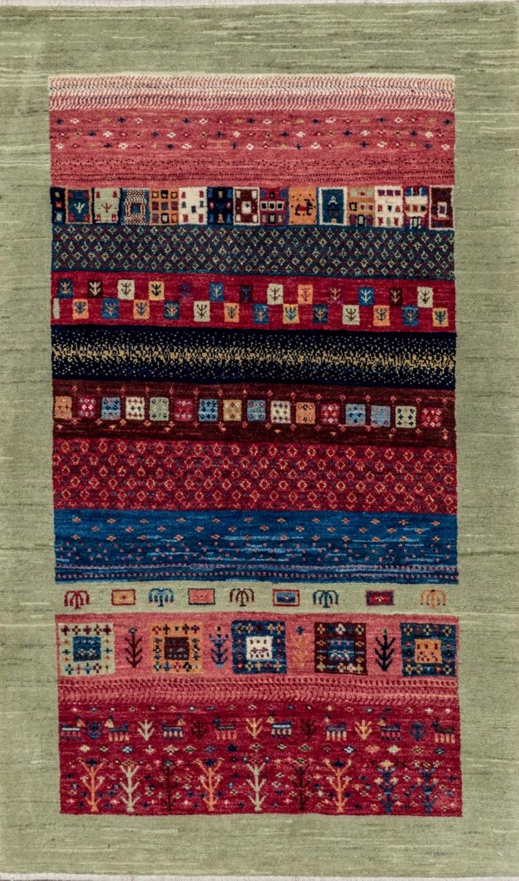 Iran Gabbeh Teppich-Unikat Spielwiese