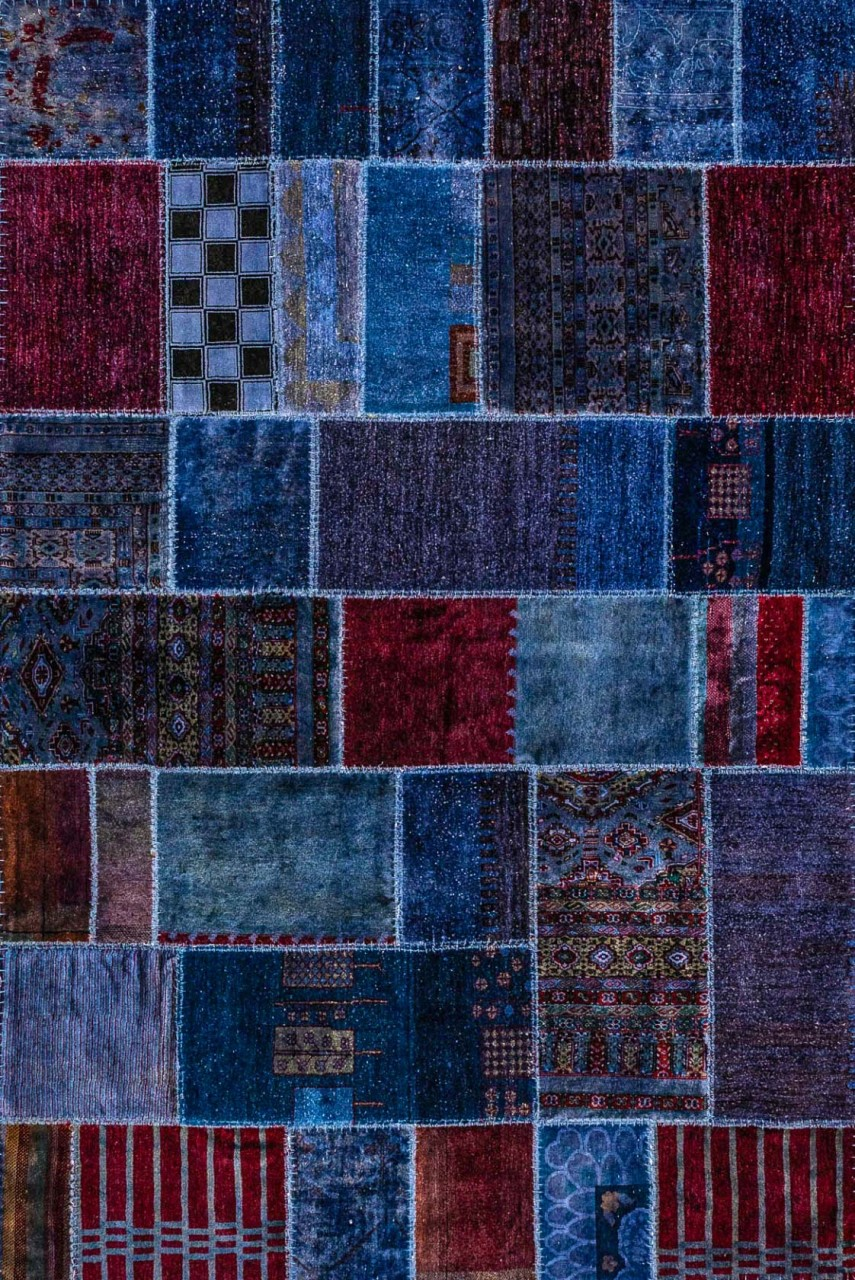 Patchwork-Teppich Blues