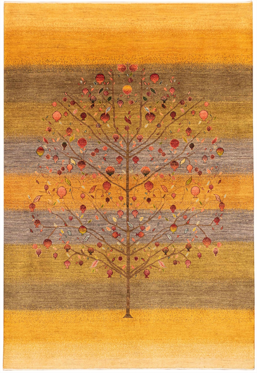 Iran Gabbeh Teppich-Unikat Sonnengruß