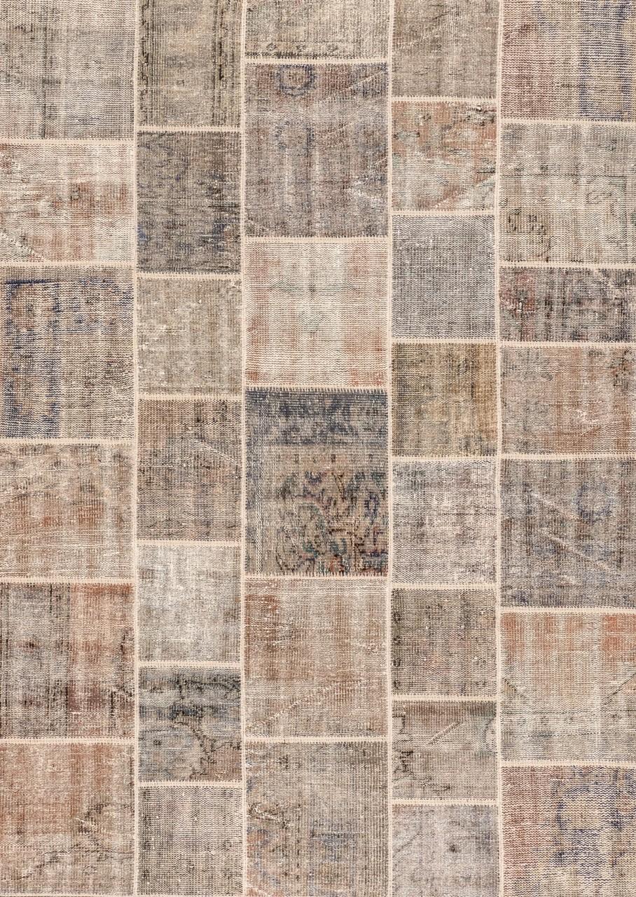 Vintage-Teppich Patchwork Beige