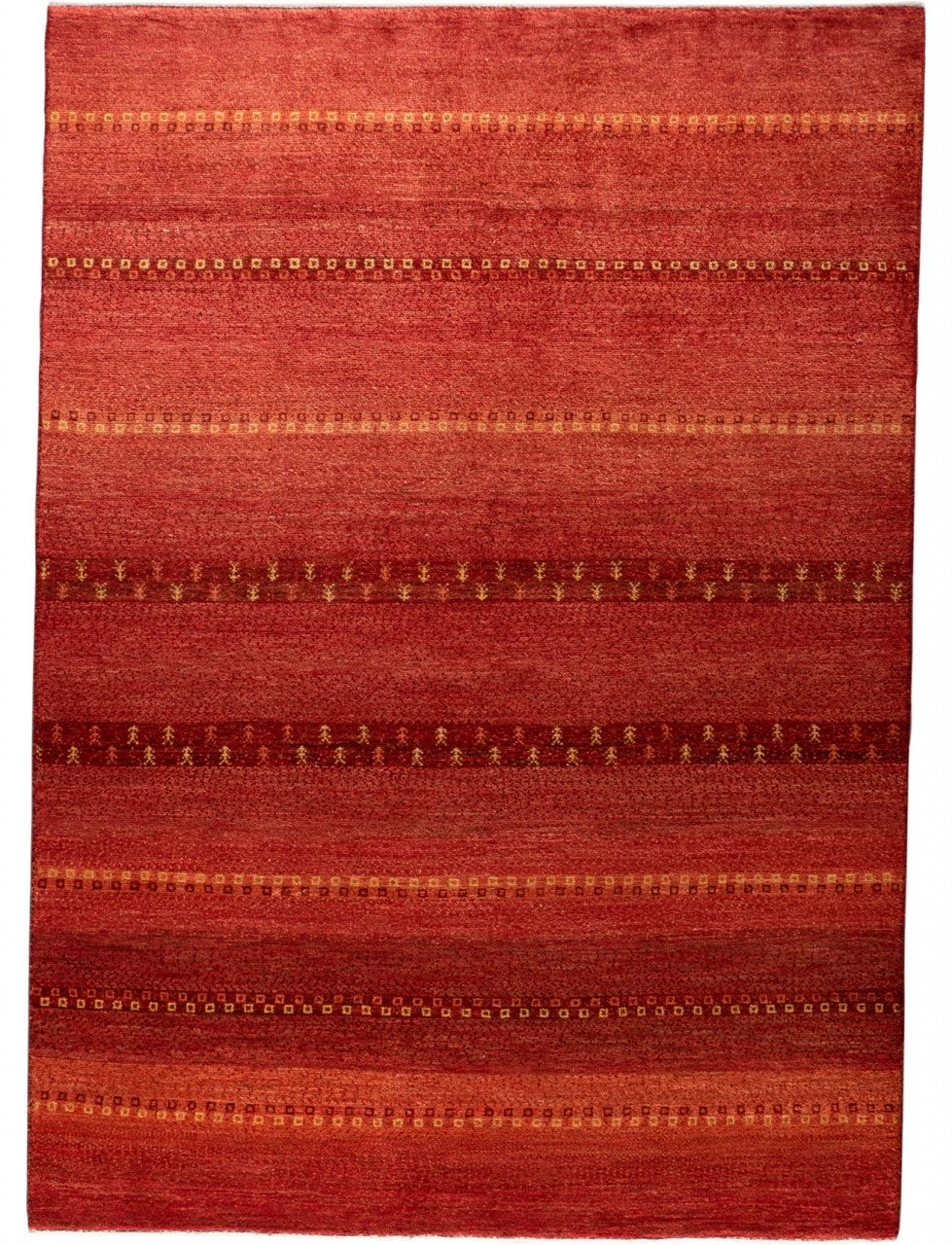 Iran Gabbeh Teppich-Unikat Red Sunshine