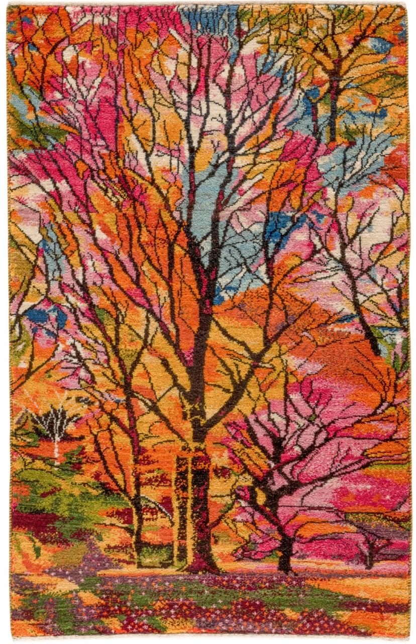 Iran Gabbeh Teppich-Unikat Farbenspiel