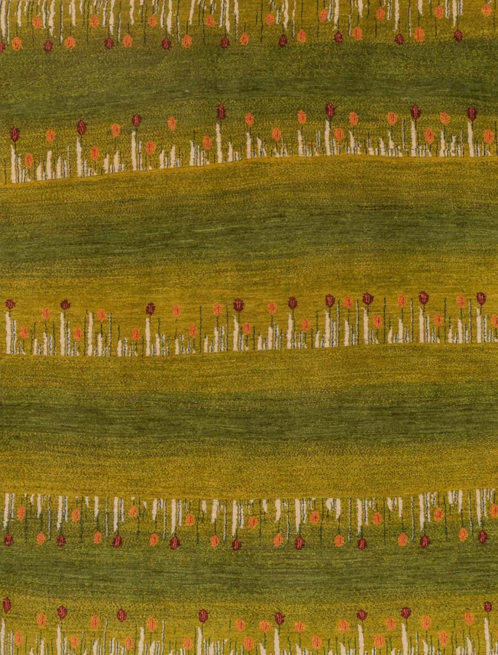 Iran Gabbeh Teppich-Unikat Frühlingswiese