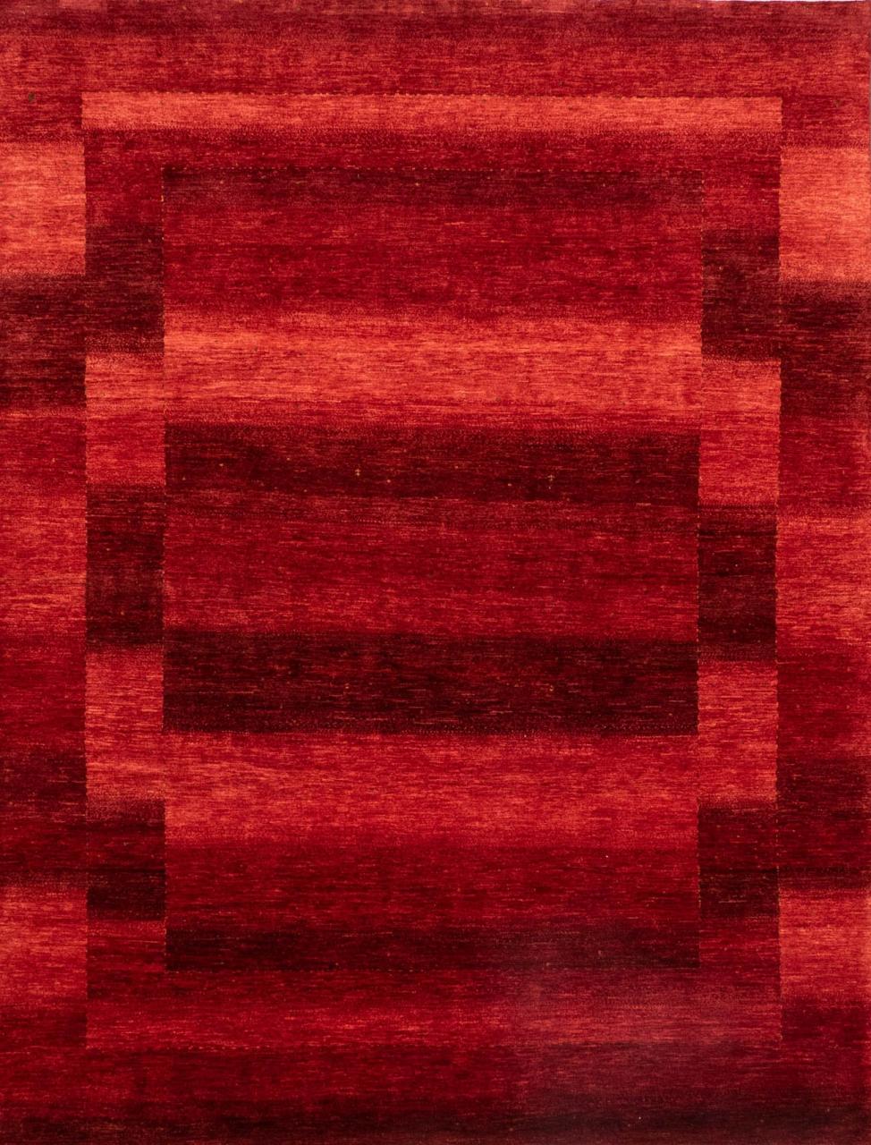 Iran Gabbeh Teppich-Unikat Rote Landschaft