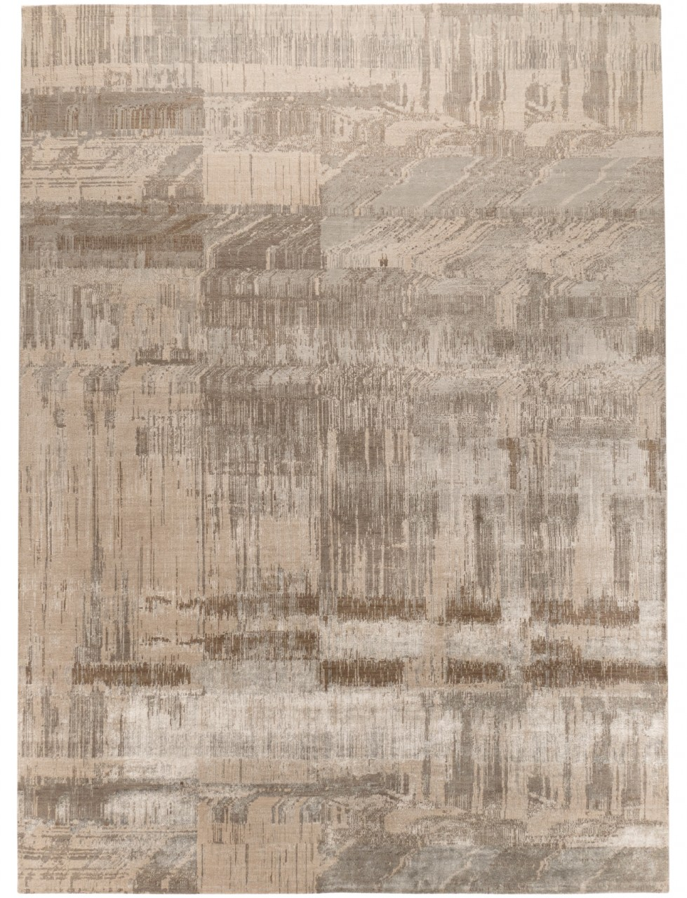 Design-Teppich Abstract Silver