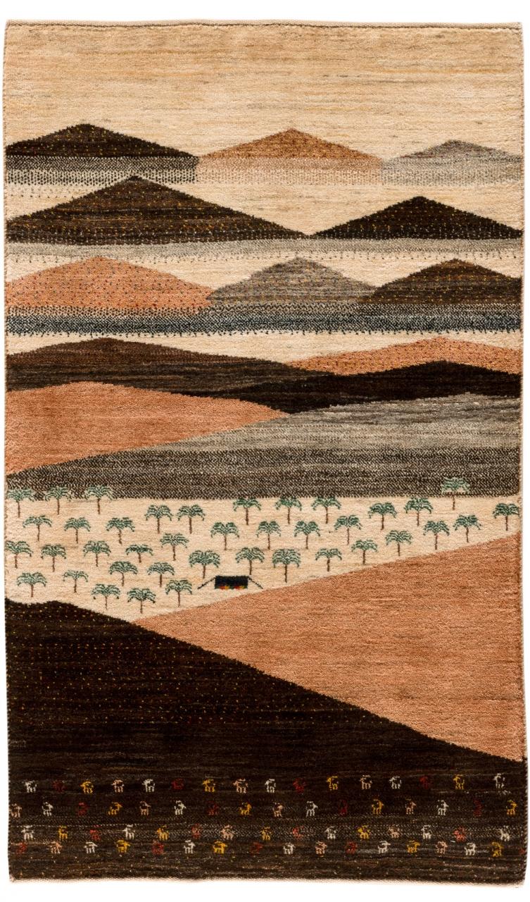 Iran Gabbeh Teppich-Unikat Panorama
