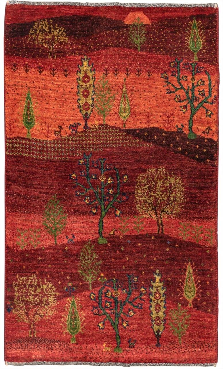 Iran Gabbeh Teppich-Unikat Red Summer