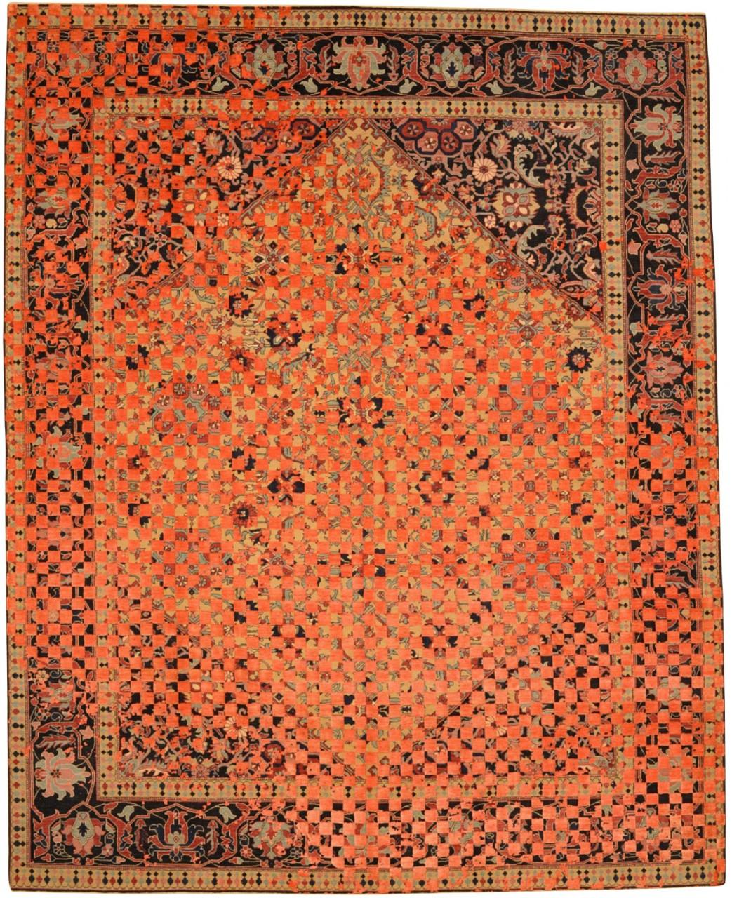 Designer Teppich Jan Kath Serapi Queenbury Checker