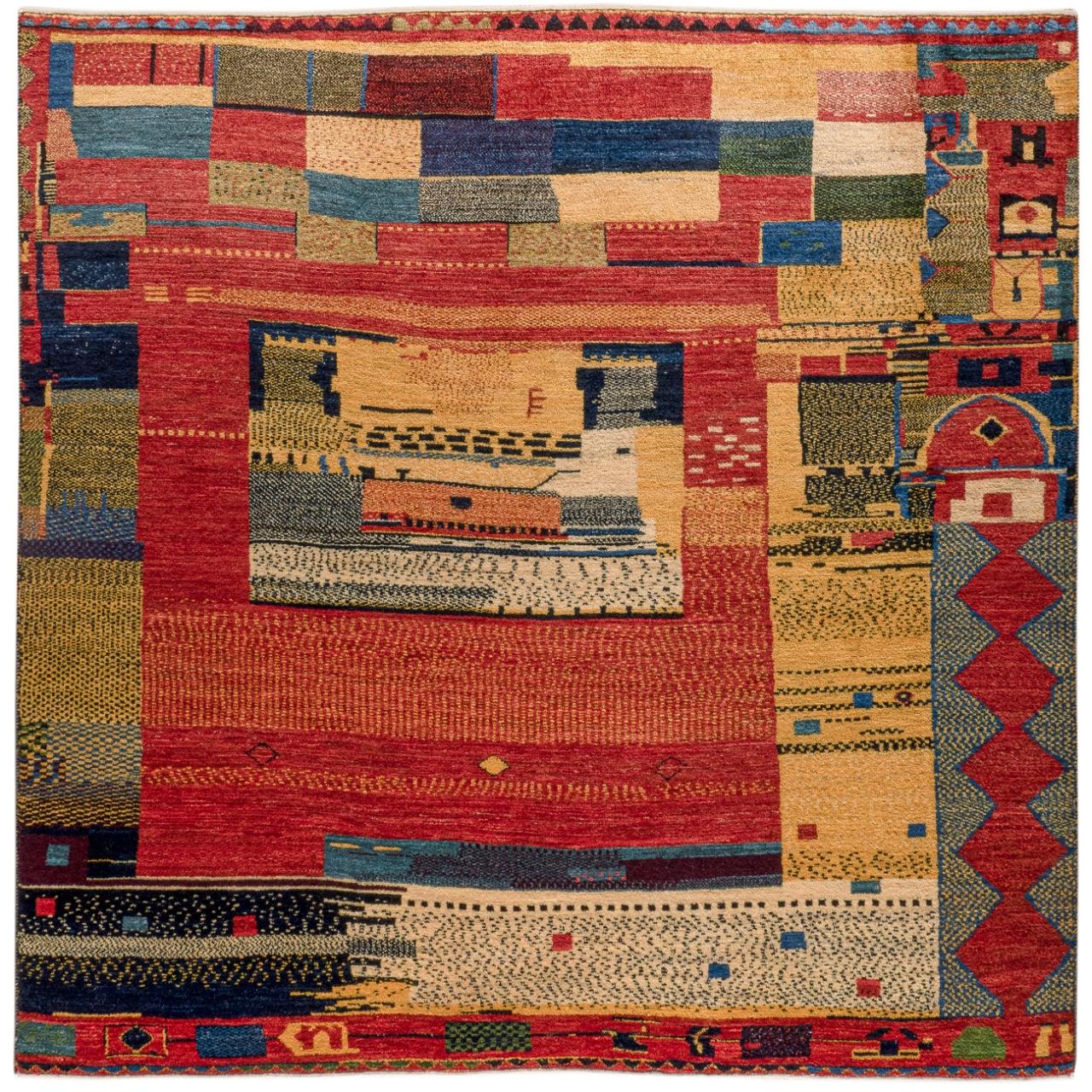 Iran Gabbeh Teppich-Unikat Tribal Art