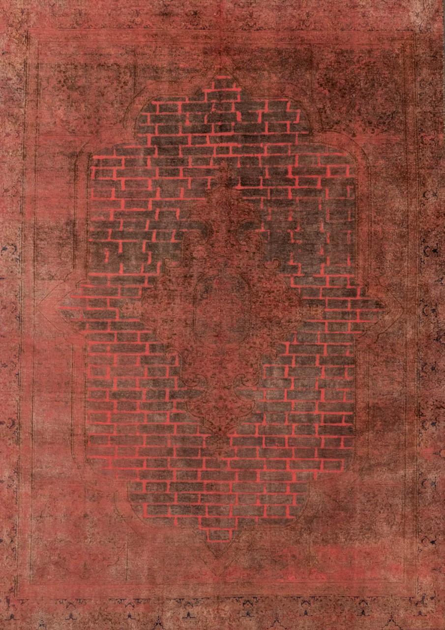 Vintage-Teppich Backsteinmauer